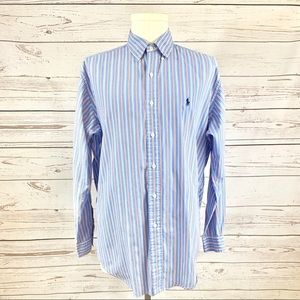 "RALHP LAUREN ""M"" Long sleeve button down"